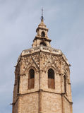 The top of valencian tower (Torre del Miguelete) in Valencia, Spain Royalty Free Stock Photography