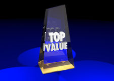 Top Value Rated Product Review Recommendation Award 3d Illustrat Royalty Free Stock Image