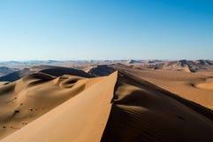 Top van Big Daddy Dune View op Woestijnlandschap, Sossusvlei Stock Afbeelding
