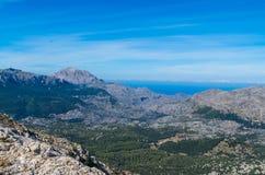 Top van Puig Majoor in Tramuntana-bergen, gr. 221, Mallorca Royalty-vrije Stock Foto