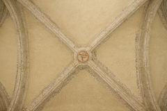 Top of vaulted ceiling. Top of ancient vaulted ceiling Stock Images