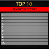 Top 10  / vectore background. Vector background top 10, 10 listing Royalty Free Stock Images