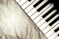 Top veiw of black and white piano keys Stock Photos