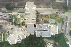Top Veiw of Hong Kong Public Housing royalty free stock photo