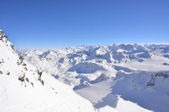 Top of Verbier ski area Royalty Free Stock Photo