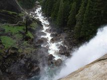 Top of Vernal Falls. The picture taken from the top of Vernal Falls in Yosemite NP Stock Images
