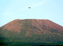 Top of the Vesuvius. View of the top of Vesuvius volcano near Naples, Campania, Italy royalty free stock photo