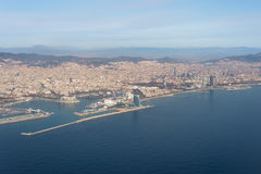 Top view above Barcelona Royalty Free Stock Images