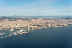 Top view above Barcelona Royalty Free Stock Photo
