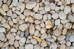 Top view abstract background with rock  and round pebble stones Royalty Free Stock Photography