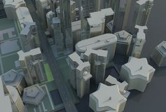 Top view abstract city Royalty Free Stock Image