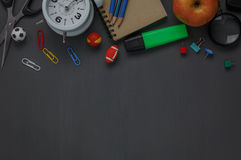 Top view accessories back to school . Stock Photography