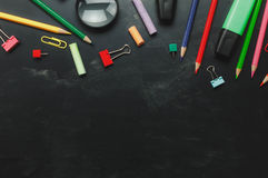 Top view accessories back to school Stock Photo