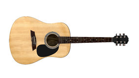 Top view of an acoustic guitar Stock Photos