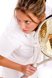 Top view of adult tennis player Royalty Free Stock Photography