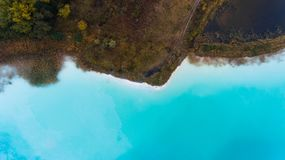 Blue ocean coast top view drone photography Royalty Free Stock Photos
