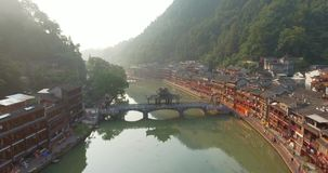 Fenghuang County in China stock footage