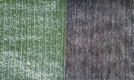 Top view of agricultural green and brown fields Winter. Top view of agricultural green and brown fields covered with snow Stock Photography