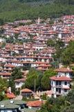 Top view Akyaka, Mugla province in southwestern Turkey. stock photography