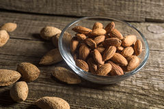 Top view of Almonds Royalty Free Stock Photos