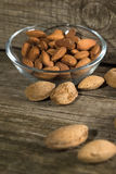 Top view of Almonds Royalty Free Stock Images