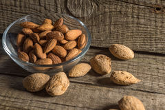 Top view of Almonds Stock Image