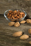 Top view of Almonds Royalty Free Stock Photography