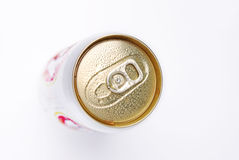 Top view aluminum can Royalty Free Stock Image