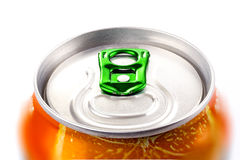 Top view of aluminum can Royalty Free Stock Photo