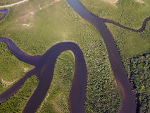 Top View of Amazon rainforest, Brazil Royalty Free Stock Image
