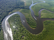 Top View of Amazon rainforest, Brazil Stock Image