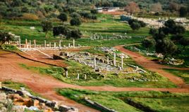 Top view of ancient ruins in Messina, Greece Royalty Free Stock Images