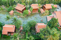 Top view of Ancient Thai Village in Bangkok Thailand Stock Photography