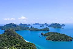 Top view of ang-thong marine national park Royalty Free Stock Photo