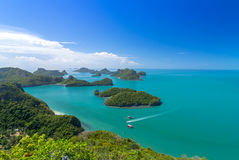 Top view of Ang Thong National Marine Park Royalty Free Stock Photos