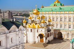 The top view of Annunciation Cathedral in Kremlin Stock Image