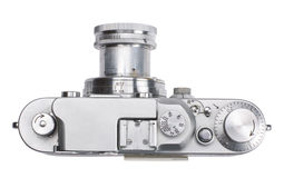 Top view of antique rangefinder camera Stock Images