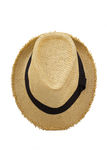 Top view of antique straw hat Stock Photo