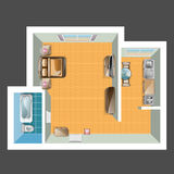 Top view of apartment. Stock Photos