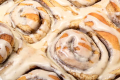 Top View Appetizing Cinnamon Buns. Closeup Royalty Free Stock Photography