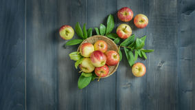 Top view apple Royalty Free Stock Images