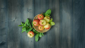 Top view apple Royalty Free Stock Photos