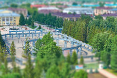 Top view of the area in the park Stock Photo