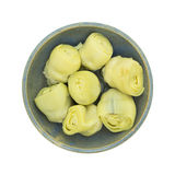 Top view of artichoke hearts in a bowl Stock Photo