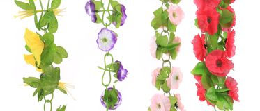 Top view of artificial flowers Stock Photo
