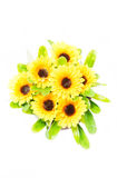 Top View Of Artificial Sunflower Bunch. Stock Photography