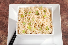 Top view asian noodles Stock Image