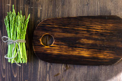 Top view of asparagus with copy space Stock Images