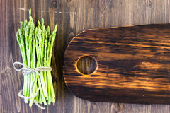 Top view of asparagus with copy space Stock Photos