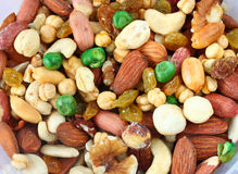 Top view of Assorted healthy mixed nuts Stock Image